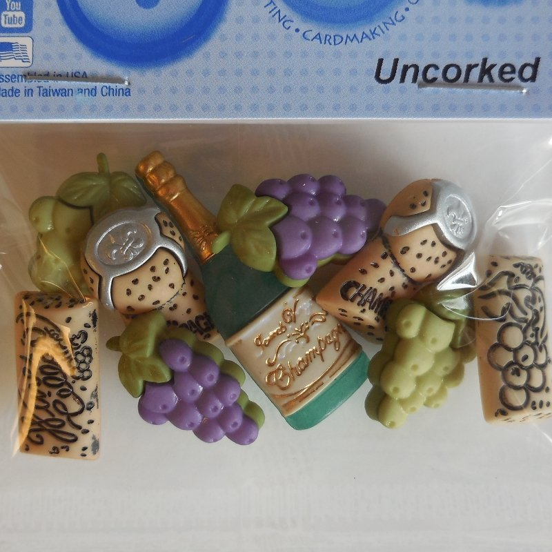 Uncorked Button Pack 9ct