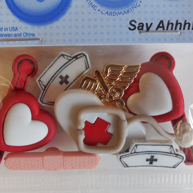 Say Ahh! Nurse Buttons