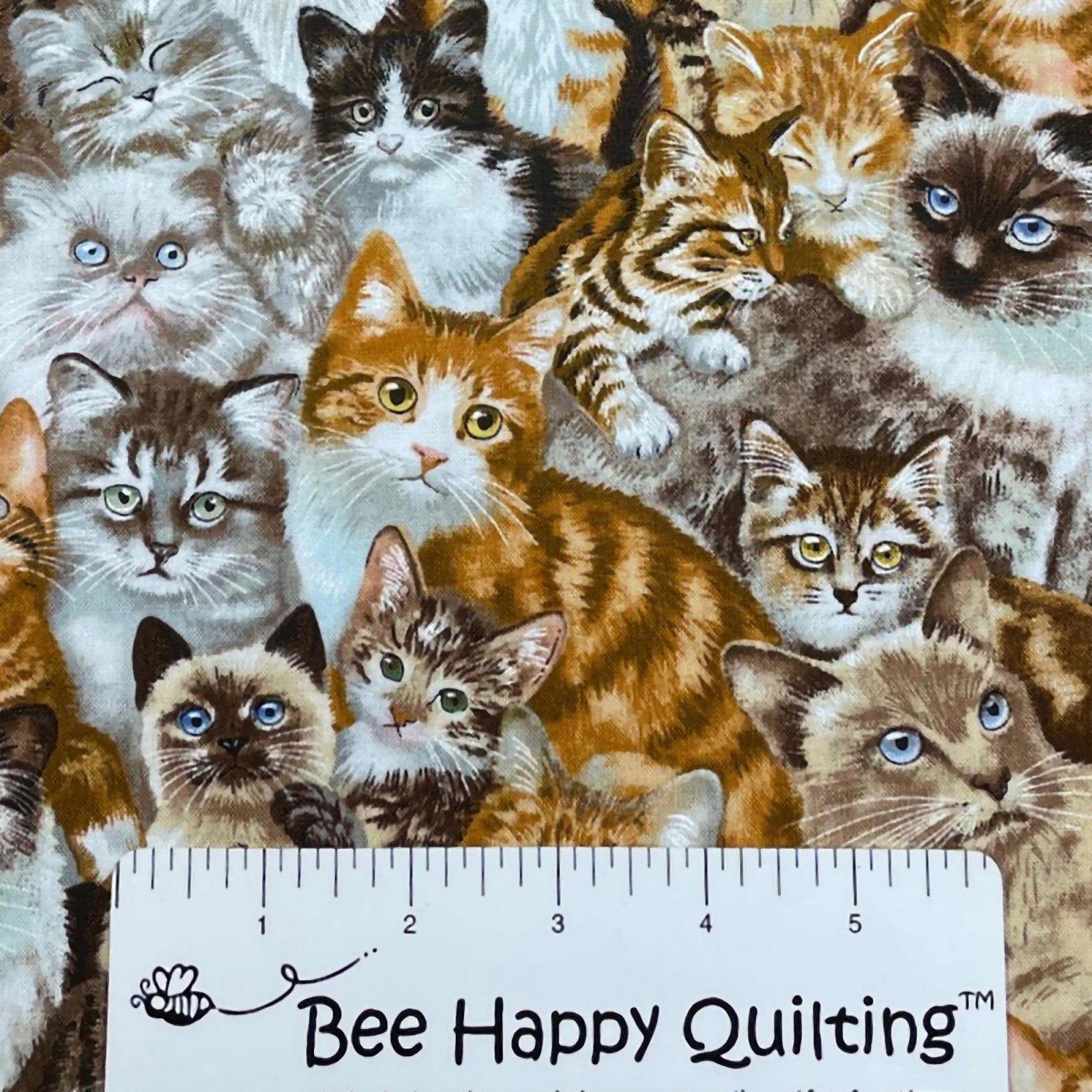 Elizabeth Studio - Petpourri  - Cat Fabric 1253Multi