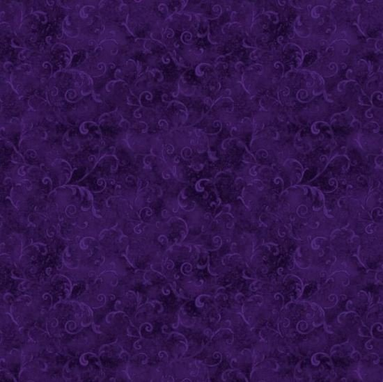 Wilmington Purple Filigree Scrolls 108 Wide Back