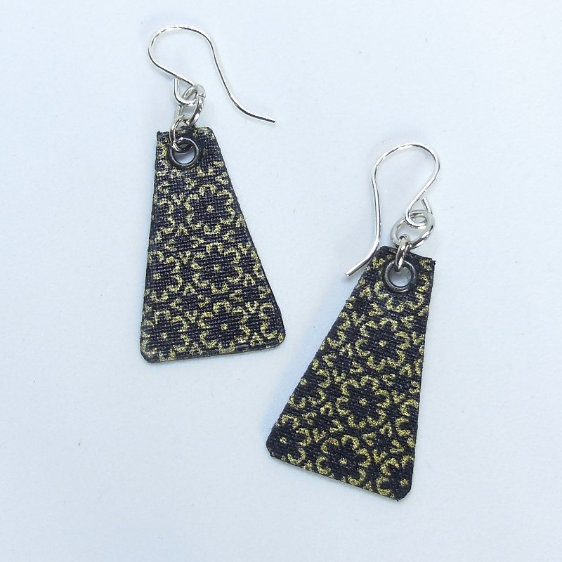 Golden Midnight Tri Earrings