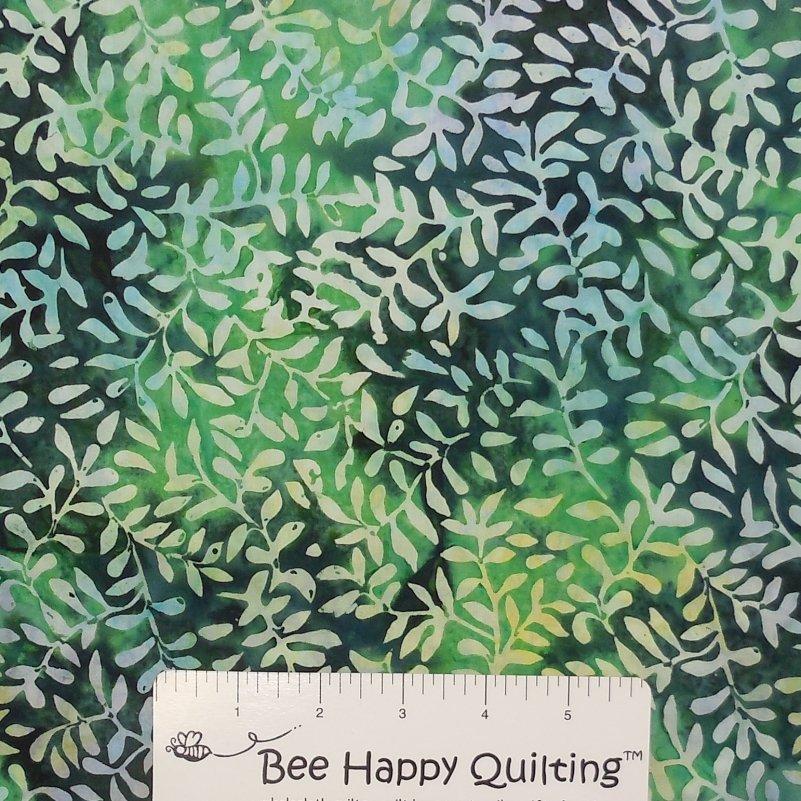 Green Vine Batik Fabric