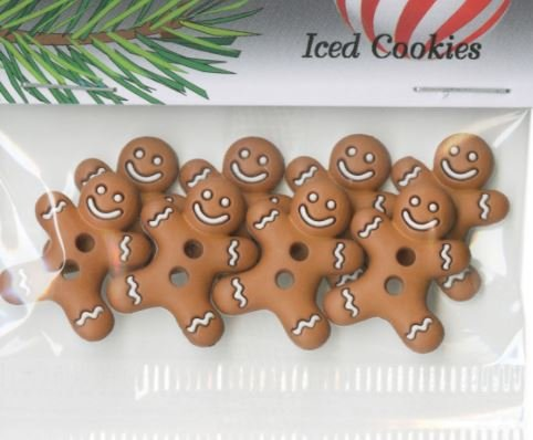 Iced Cookies Button Pack 6pcs