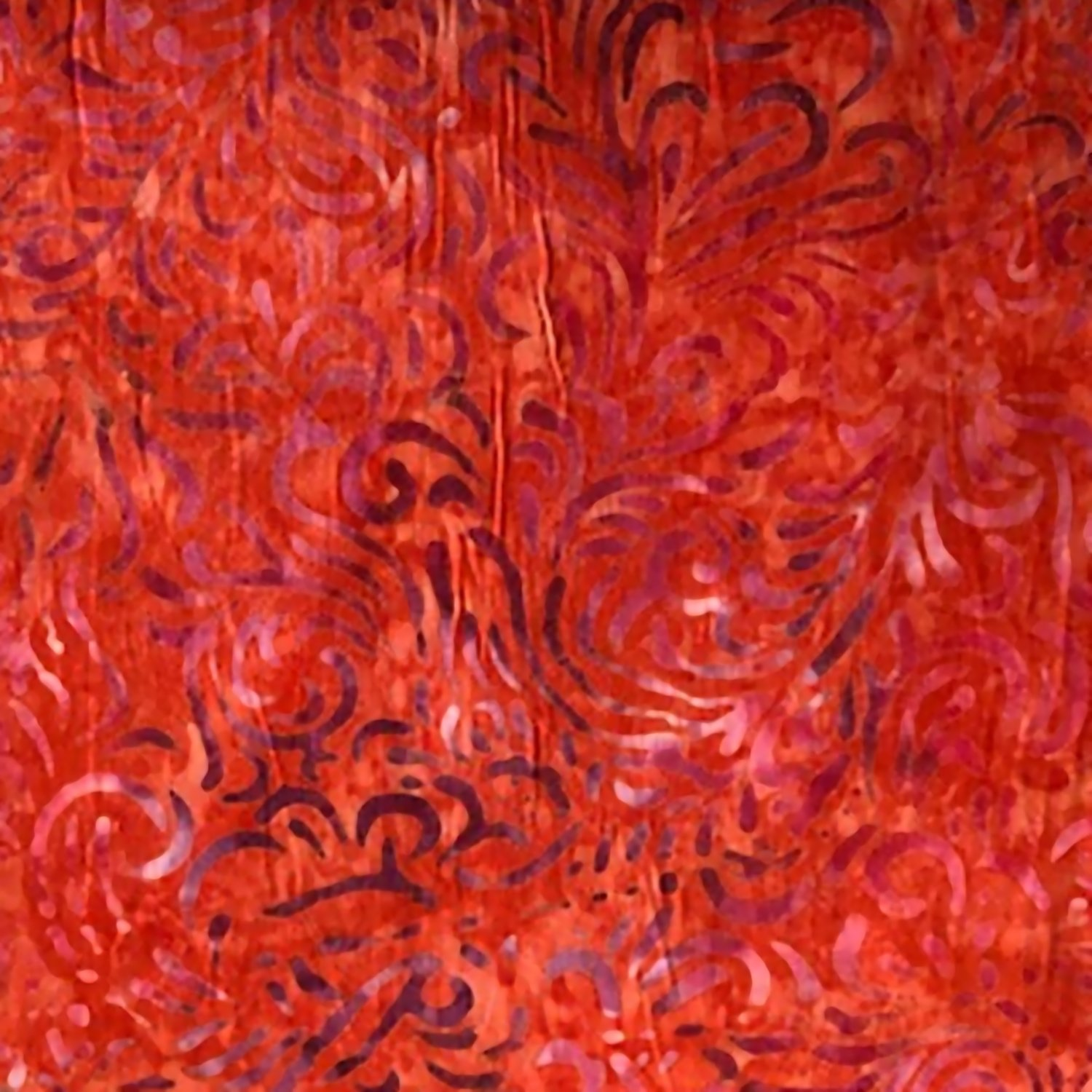 Wilmington Red Flourish Batik Fabric