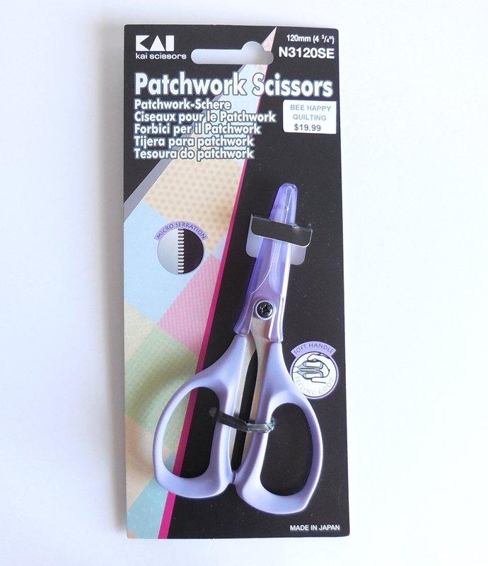 KAI N3120 Patchwork Scissors 4-3/4