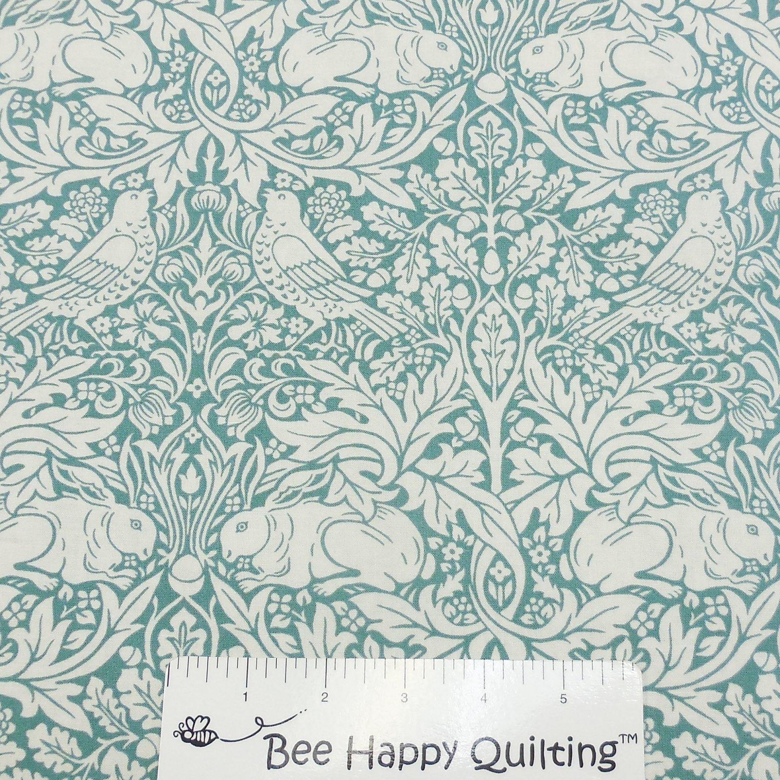 Brer Rabbit Fabric Morris & Co - Teal PWWM026