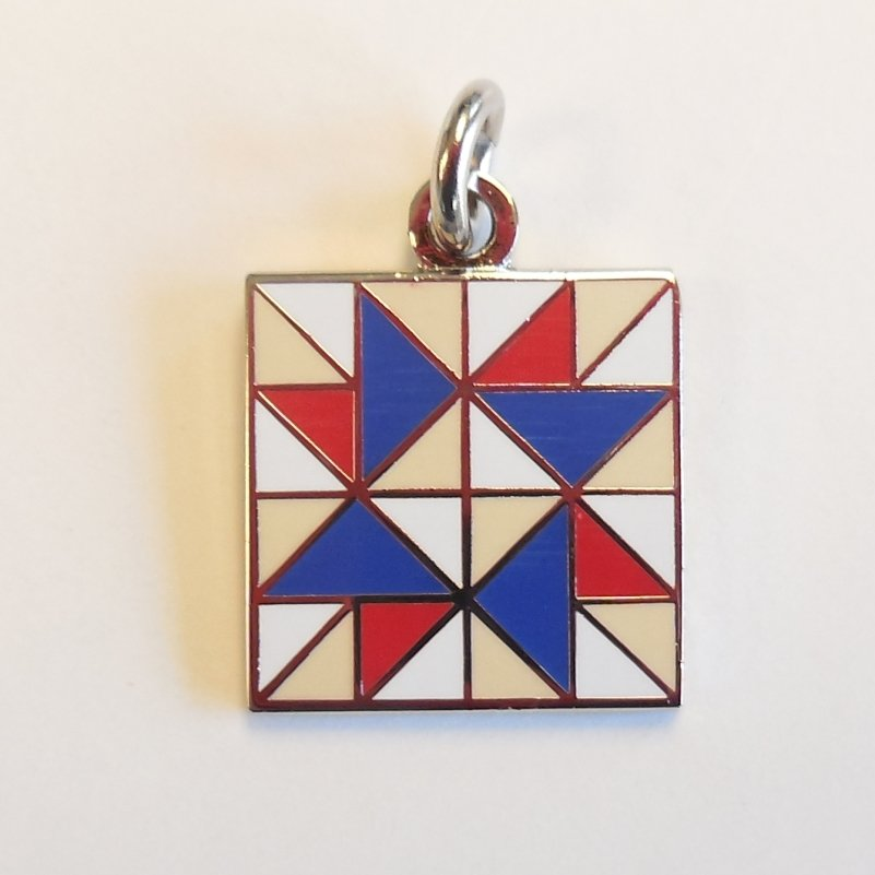 Spinning Star Red, White & Blue Charm