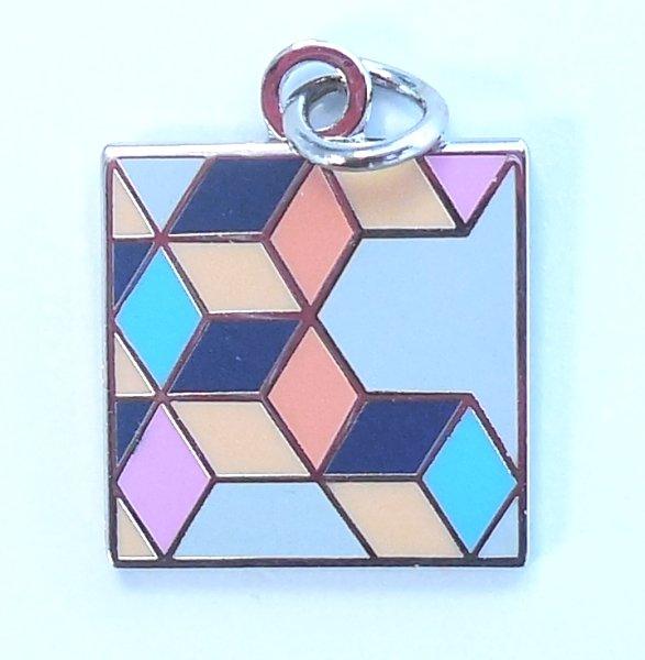 Rhombus Quilt Charm