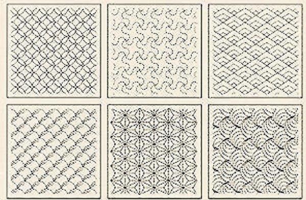 Preprinted Wholecloth Sashiko Sampler Natural 28 x 40