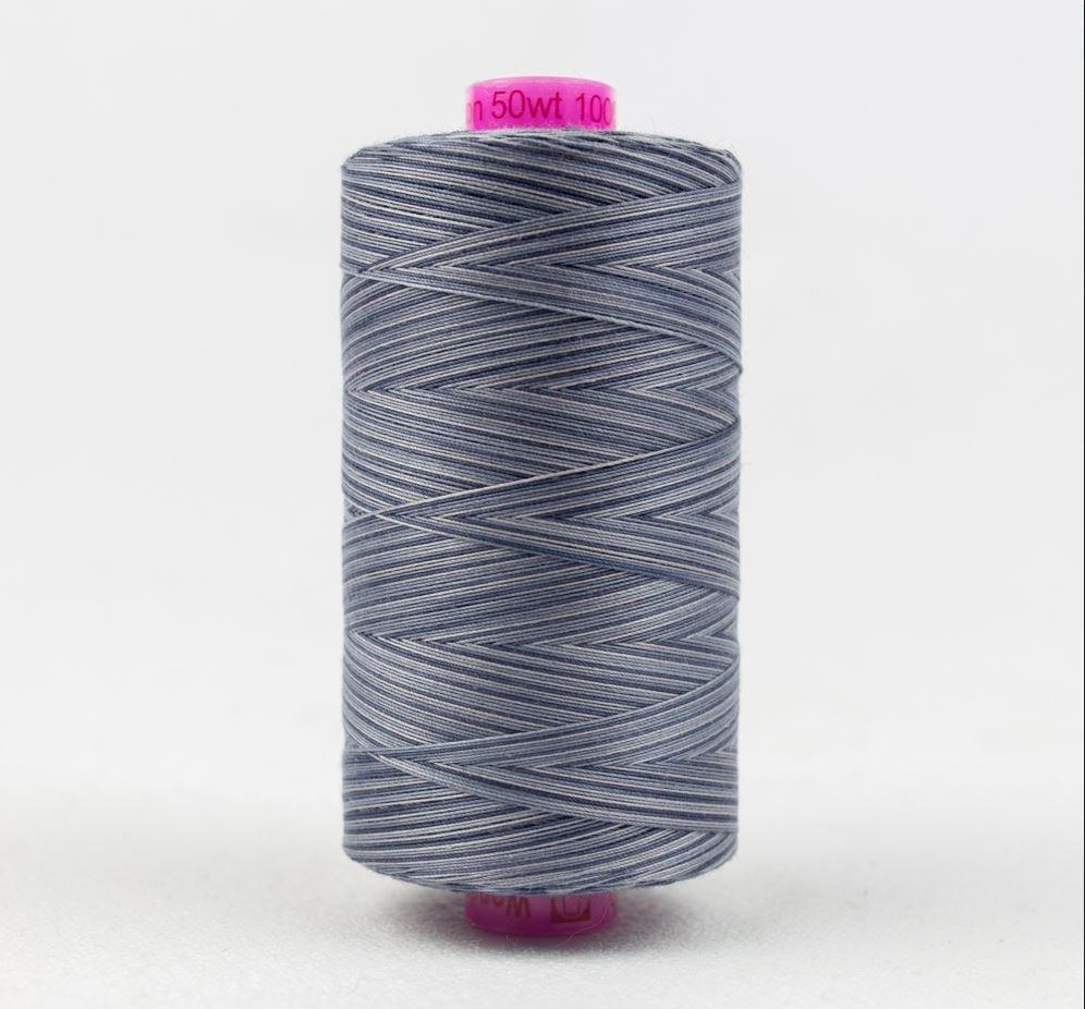 Wonderfil Varigated Tutti Thread, 50wt/3ply Cotton 1000m Slate TU40 Best Seller