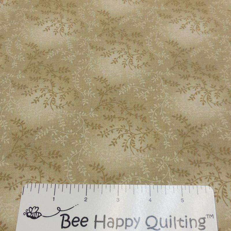 108 Wide Tan Vine Backing Fabric
