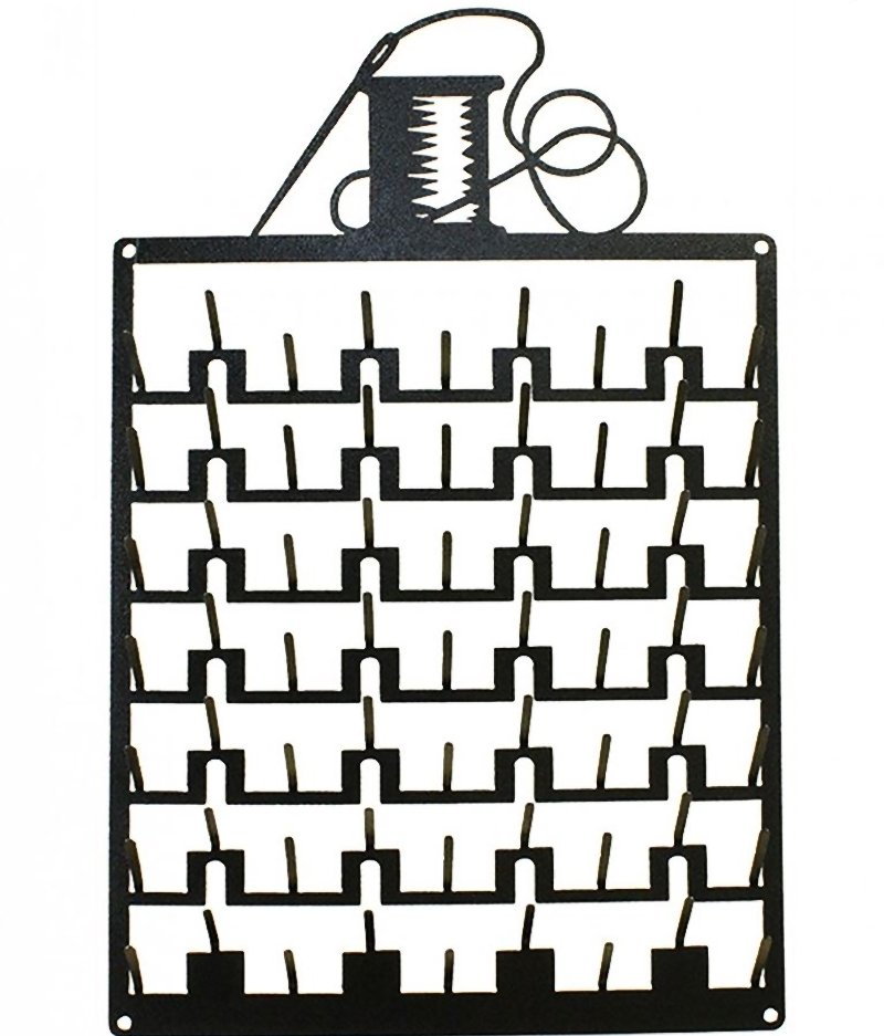 63 Pin Needle and Thread Spool Rack Charcoal