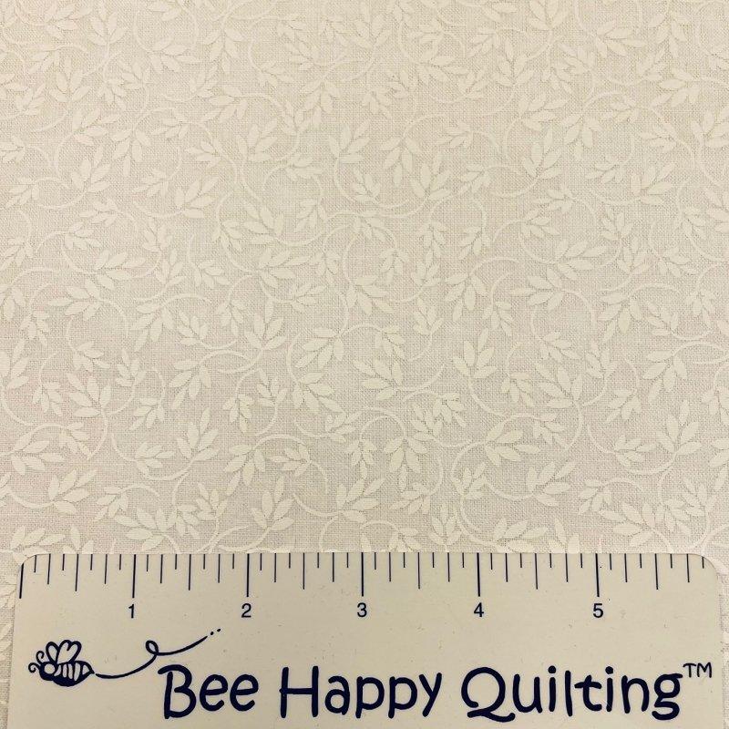 108 Summertime Whites -Wide Backing Fabric -White on White