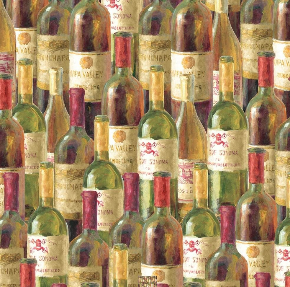 Wilmington Prints Uncorked Packed Bottles 745181374563