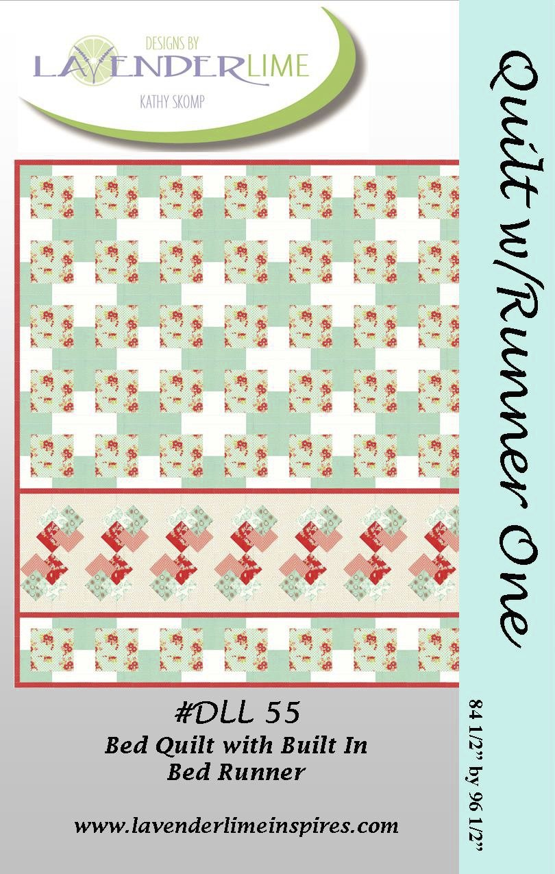 Bed Quilt with Built In Runner - PDF Download