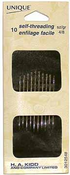 10 Self-Threading Needles Size 4/8