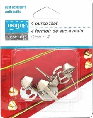 Purse Feet | 12mm | 4 Pcs | Silver