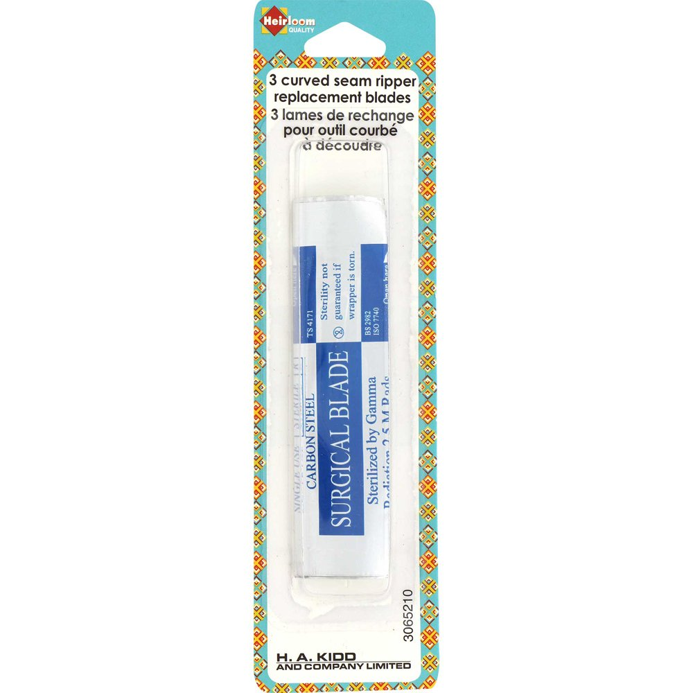 Curved Seam Ripper Replacement Blades Pack of 3
