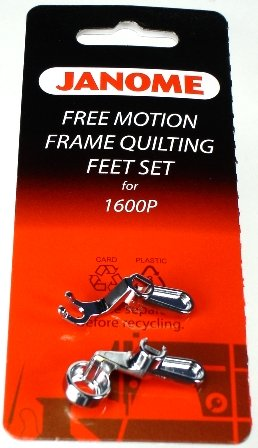 Free motion feet set for convertible free motion quilting set