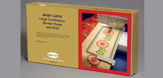 Large Continuous Border Hoop and Grid Babylock
