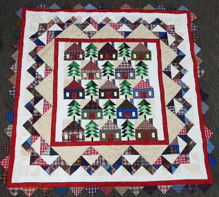 Cabins in the Piines Quilt Pattern