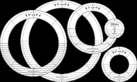 Handi Quilter Ring Templates  Gold Set