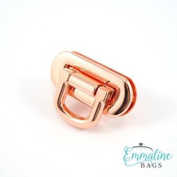 Oval Flip Lock Copper