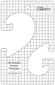 ROM Five HQ Scalloped Double Hearts Template