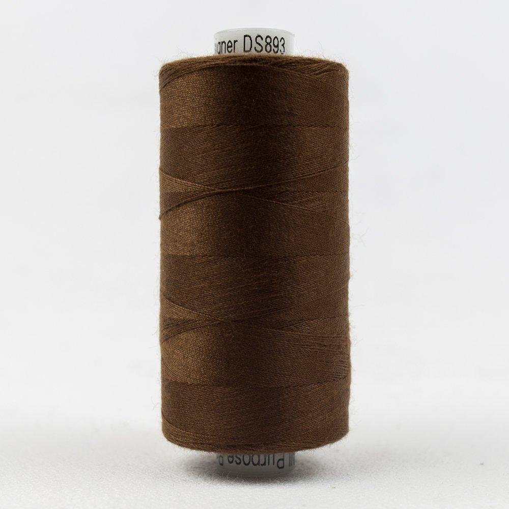 Designer Polyester 40 wt 1000 m 893 Saddle Brown