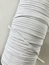 Braided Elastic 6mm white