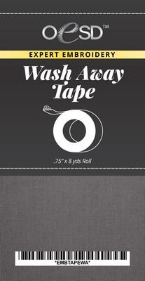 OESD Embroidery Tape Wash Away.75 x 8 yds