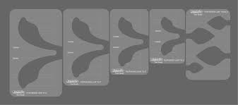 Westalee Feather Template 5 pc Low Shank