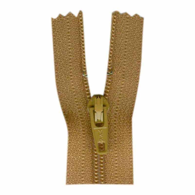General Purpose Closed End Zipper 35cm (14) - Golden Brown