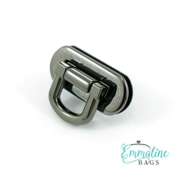 Oval Flip Lock Gunmetal