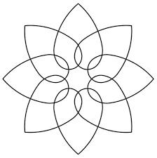 Quilt Stencil Interlocking Hearts 5 in