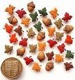 Dress it Up  Fall Inspirations Tiny Leaves Buttons Pack of 28