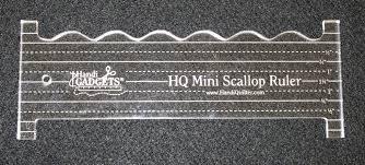 Handi Quilter Mini Scallop Ruler 8 X 3 in
