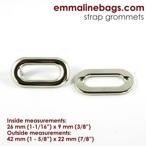 Oblong Grommet Nickel 4 pc