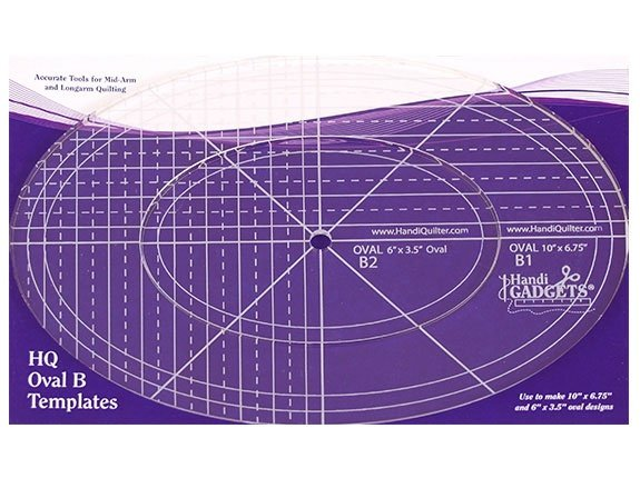 Handi Quilter Oval B 10 In and 6in ruler