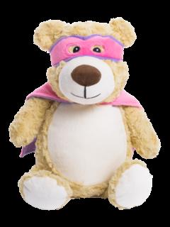 Cubbies Pink Hero Bear