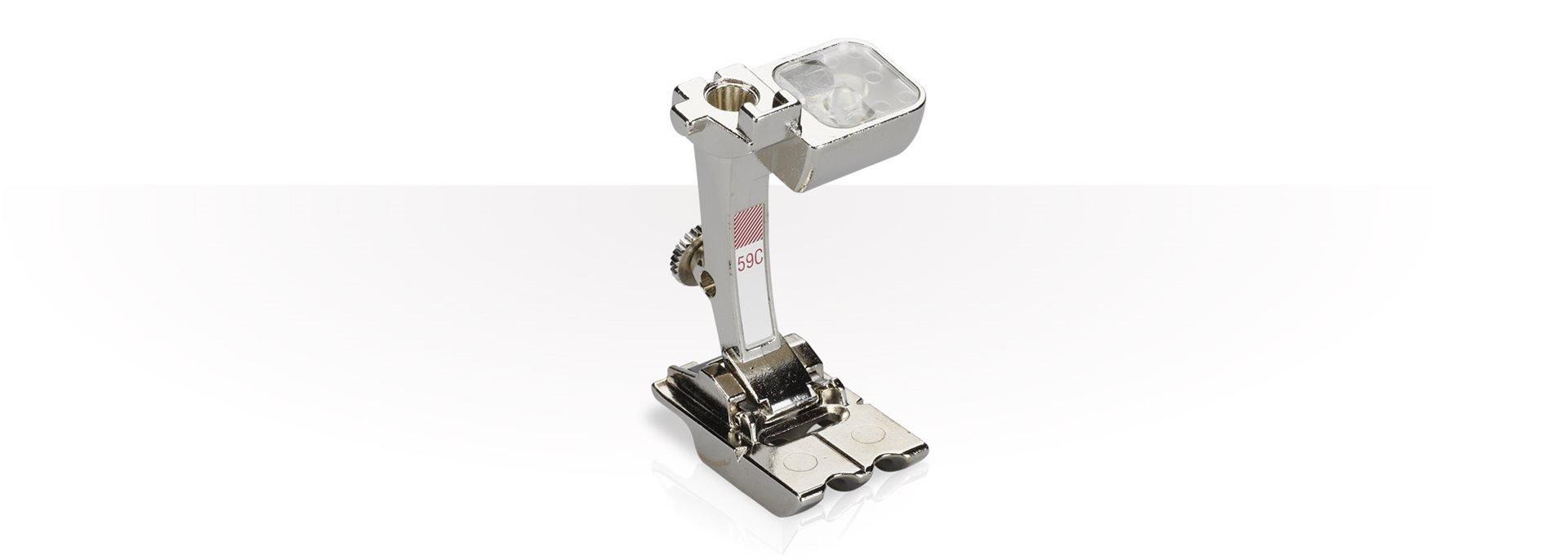 #59C Double Cording Piping Foot | 4-6mm Diameter Cord | Bernina White Card