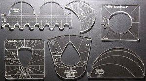 Westalee Sampler Template Set  6 Rulers Low Shank