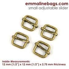Adjustable Sliders 12mm Antique Brass
