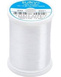 Sulky Invisible Thread Polyester  2200 yds Clear