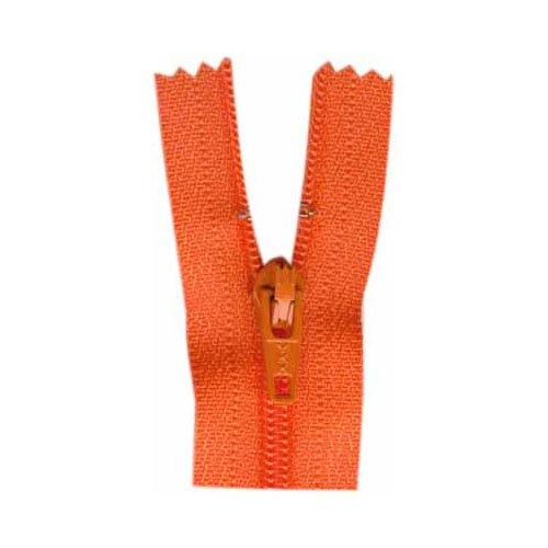 General Purpose Closed End Zipper 35cm (14) - Tangerine
