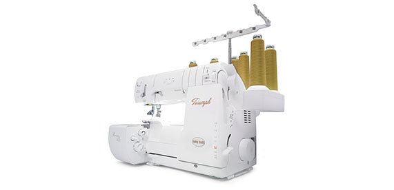 BABY LOCK TRIUMPH SERGER AND COVERHEM MACHINE