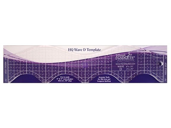 Handi Quilter Wave Ruler D 6 in and 3 in