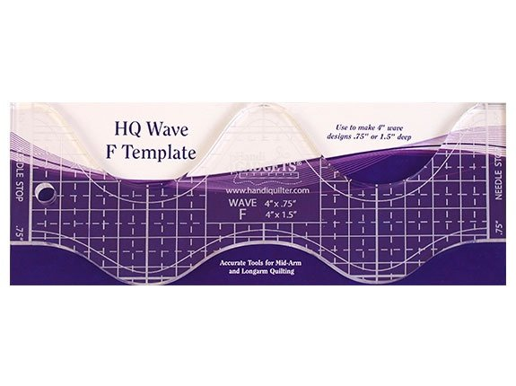 Handi Quilter Wave Ruler F 4 in