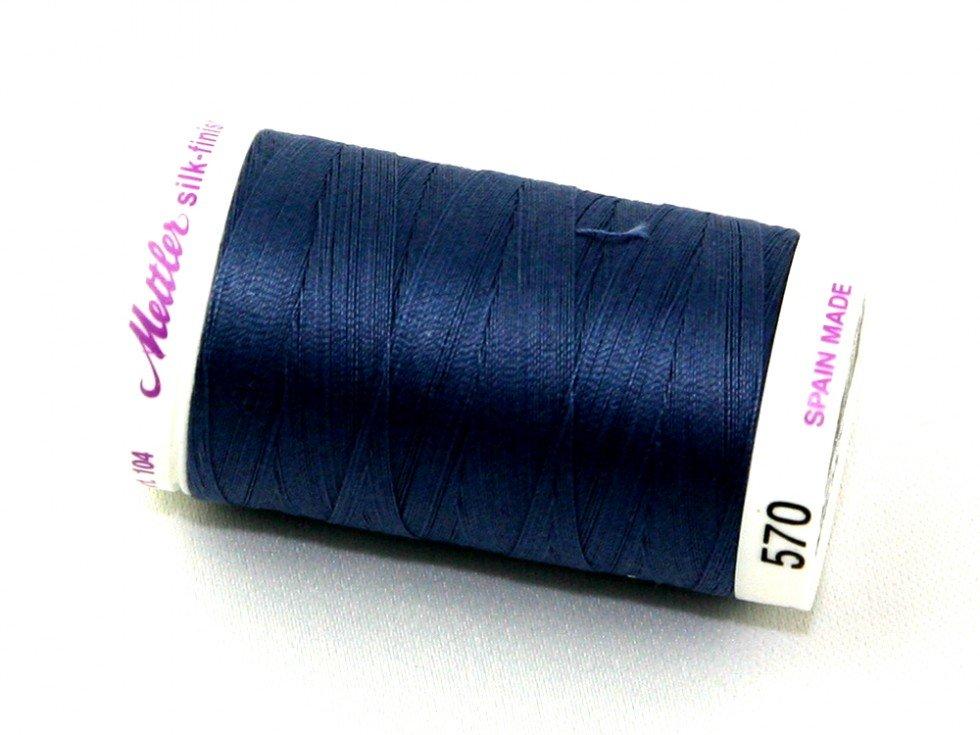 Mettler Silk-finish 50wt Cotton Thread #570 Night Blue 547yds