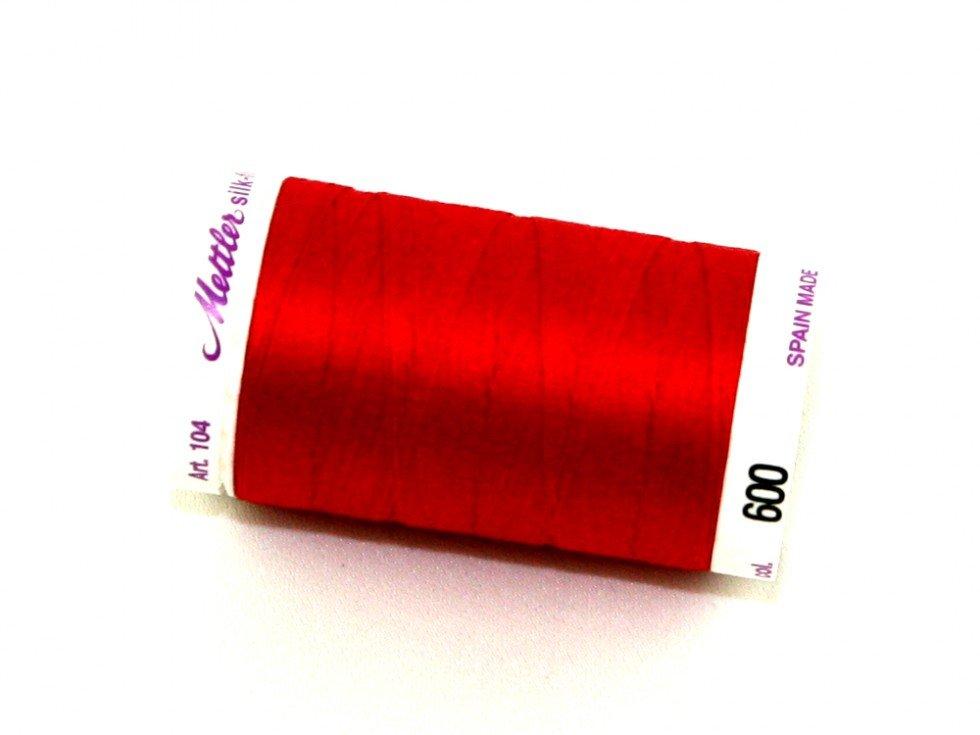 Mettler Silk-Finish 50wt Cotton Thread #600 Cardinal